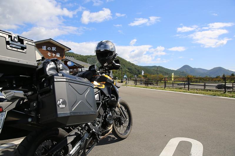 F800GS 20151005 会津沼沢湖畔キャンプツーリング