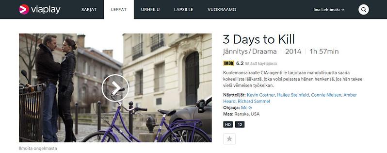 Katso 3 Days to Kill. Elokuvat netissä - Viaplay.fi - Google Chrome 30.11.2015 95714.bmp