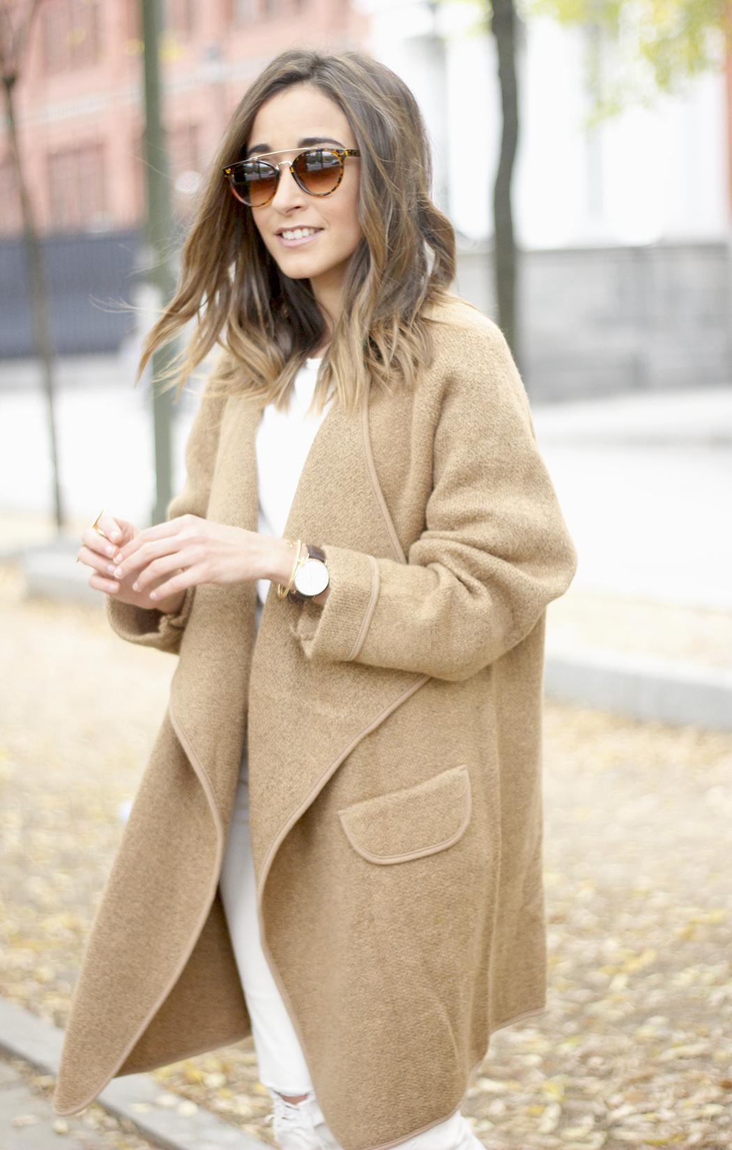 Camel Coat sheinside white outfit heels uterqüe purse outfit13