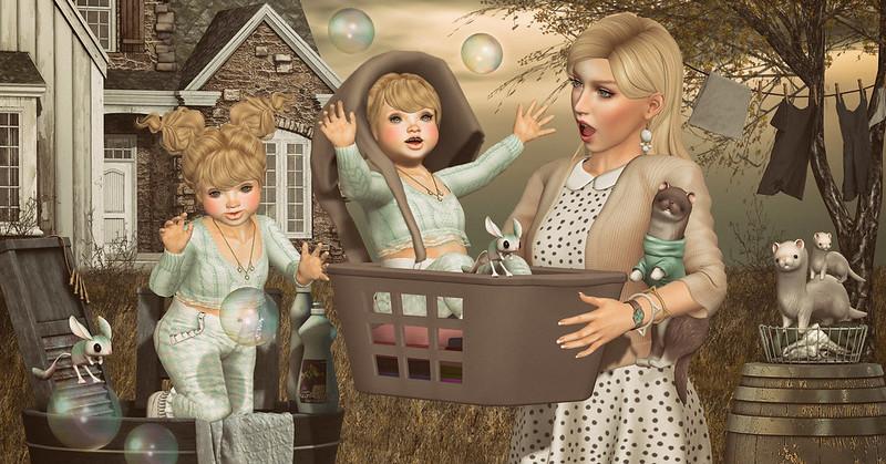Amelie et les petites: Laundry Day