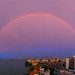 Rainbow over the sea, Penang island, George town, Malaysia by Eric Lafforgue