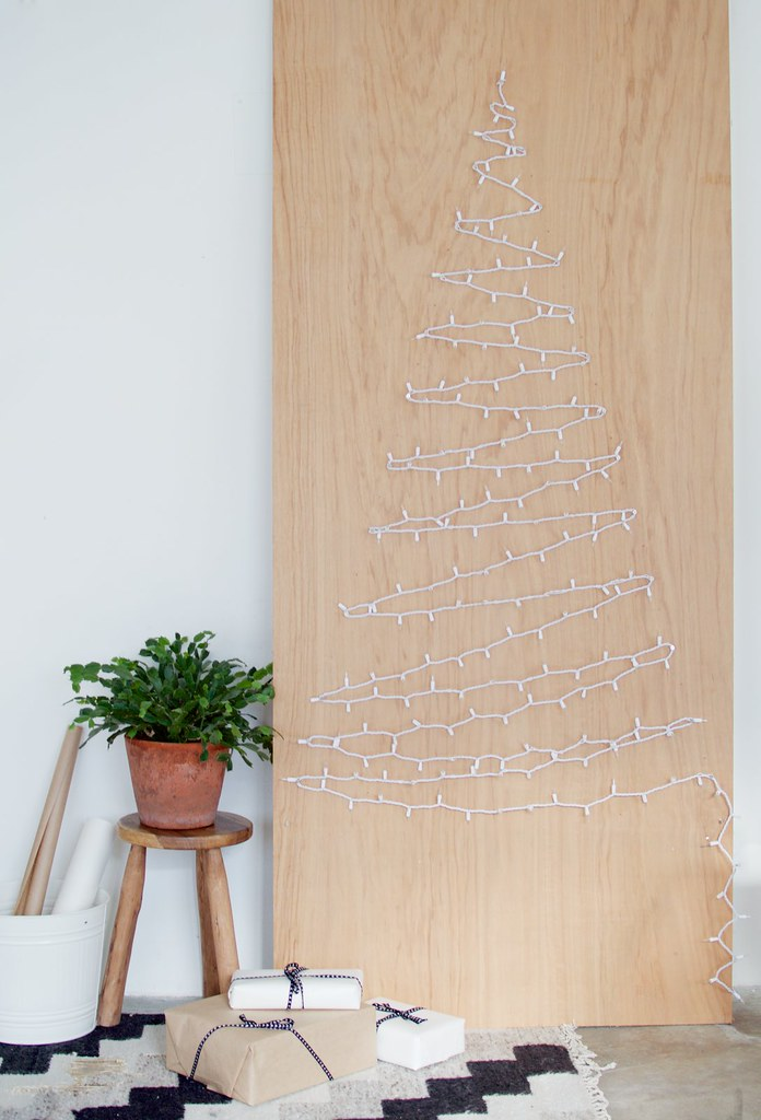 Diy String Light Christmas Tree A Pair Amp A Spare