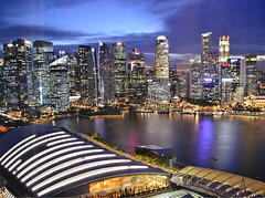 Downtown Singapore as seen from Marina Bay Sands