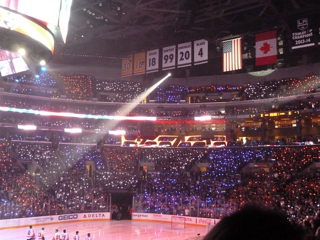 Opening Night Los Angeles Kings Staples Center