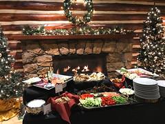 antipasto setup at Christmas