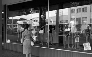 Window shopping at J.C. Penney's in Tallahassee