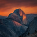 Exodus - Sunset on Half Dome from Olmsted Point by Aron Cooperman