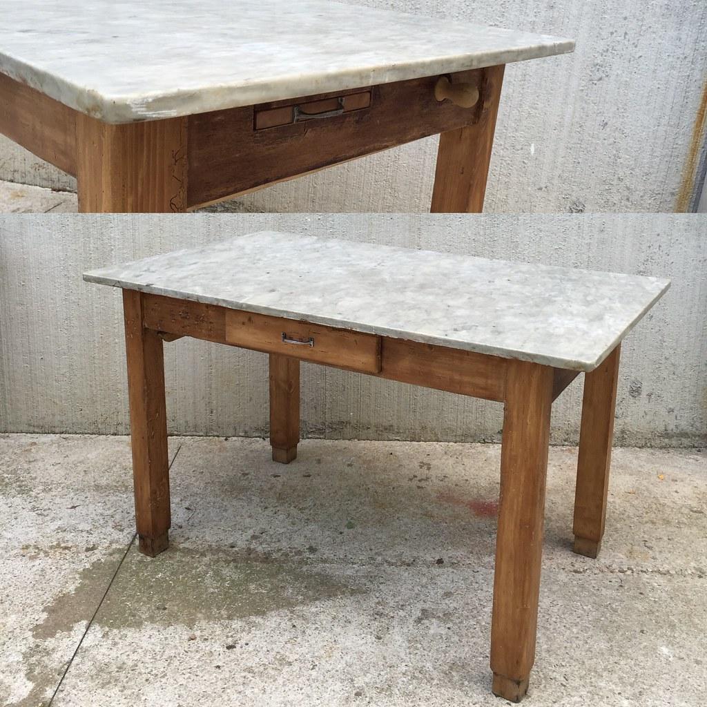 Vecchio tavolo anni \'50 legno e piano in marmo - a photo on Flickriver
