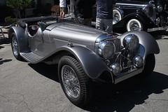 race car, automobile, vehicle, mercedes-benz 500k, antique car, vintage car, land vehicle, luxury vehicle,