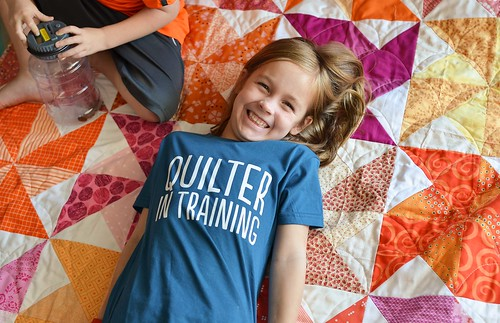 quilter in training