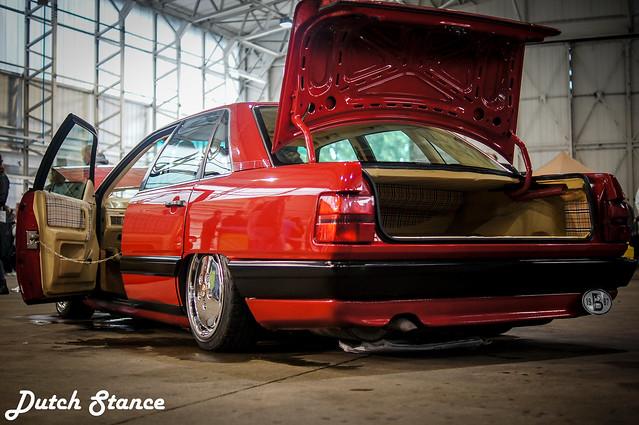 Red Audi 1987