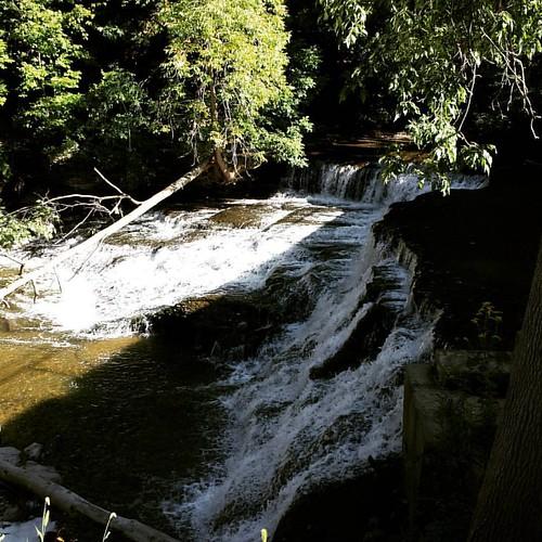 Papermill Falls, Avon, NY. #waterfall #wny
