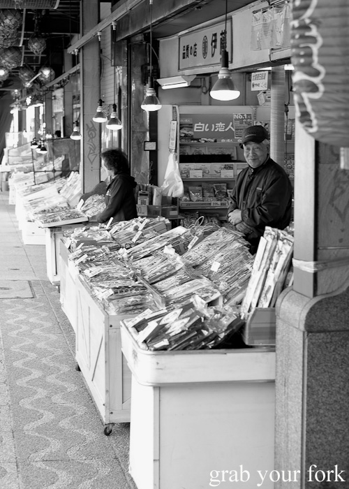 Stall holders at Nijo Market, Sapporo