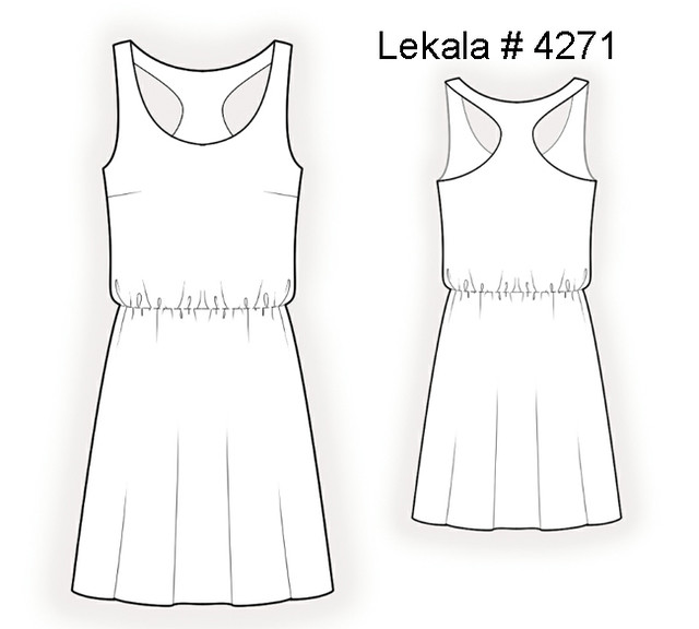 Lekala 4271 tech drawing