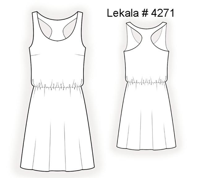 Lekala 4271 tech drawing