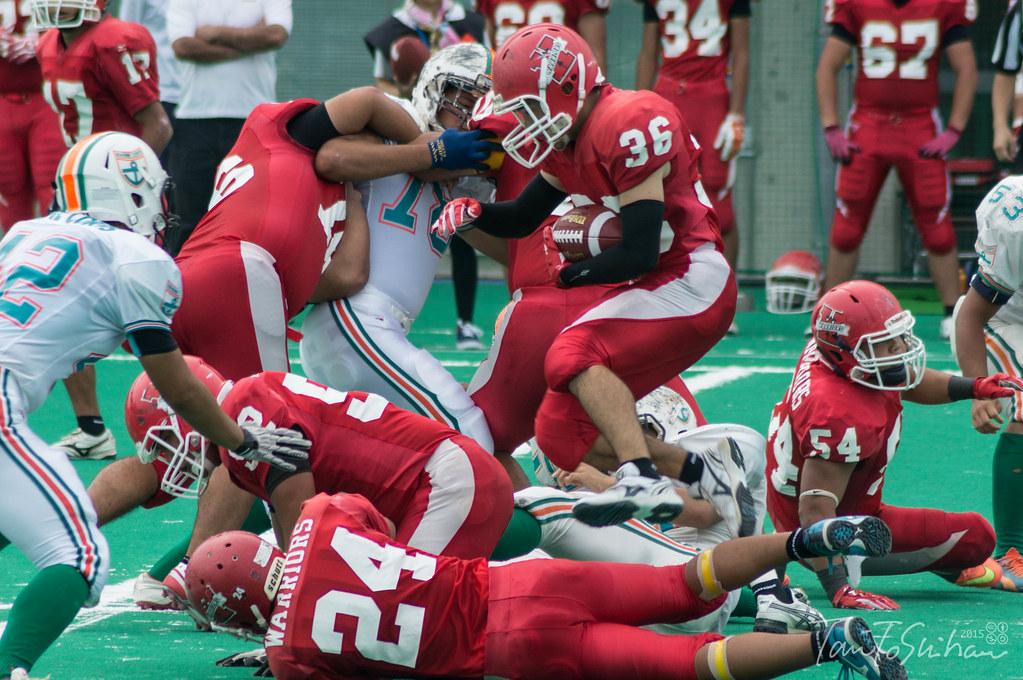 中四国学生アメリカンフットボールリーグ戦 島根大ー高知大