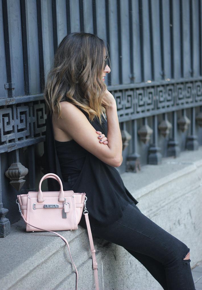 Lace Up Flats Black Jeans Top Hoss Intropia Coach Bag Aristocrazy05
