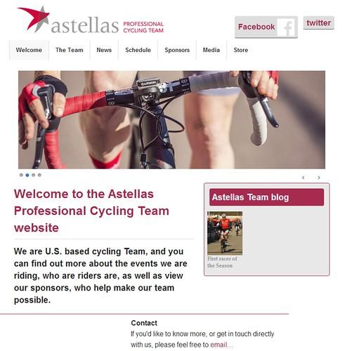 Astellas cycling team web