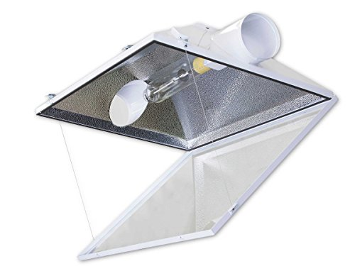 4PCS – 6″ Lambert Air-Cooled Grow Light Reflector Hood (Hydroponics Indoor Garden; For Metal Halide or High Pressure Sodium Bulbs)