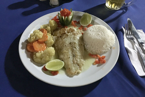 Gilthead with rice & vegetables / Dorade mit Reis & Gemüse