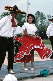 Performers dance at the fiesta - Pierson