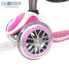 245-GLO-002 Globber 四合一兒童滑板車滑步車學步車三輪設計適1~6歲轉向鎖定-鍍鈦-粉紅