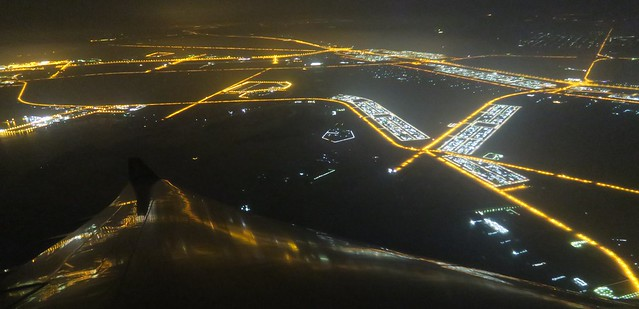 saa flight 278 abu dhabi at night