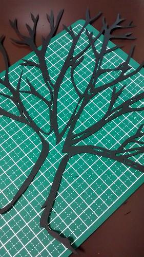 ウエディングツリー用の木(切り絵)