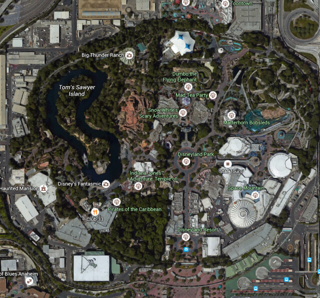 Disneyland Google Maps