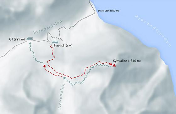 Skialpinistická trasa vNorsku