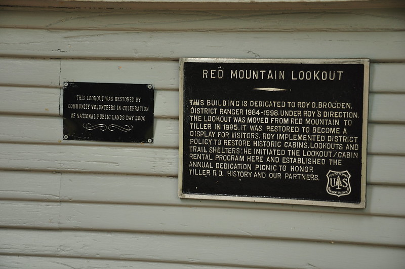 Fire Lookout Plaque