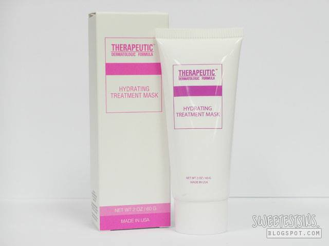 therapeutic dermatologic formula hydrating treatment mask