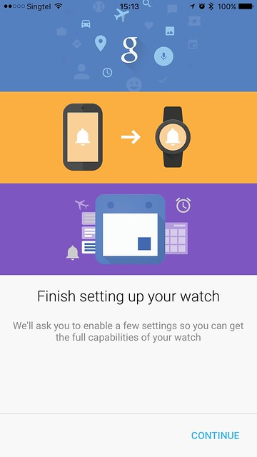 Android Wear iOS - Finish Setting Up