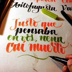 Cementerio Club. #spinetta #caligrafia #calligraphy #brushpen