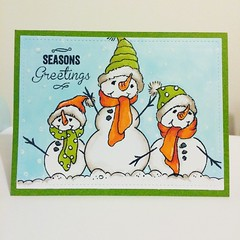 Aren't these stampendous snowmen adorable. I can't wait for some snow can you?
