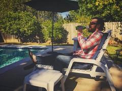 Sean enjoying a SoCal Thanksgiving at Casa Alma.