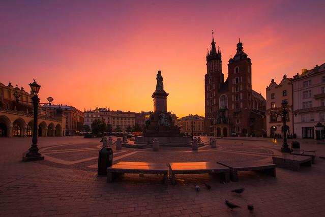 Krakow - Main Square Sunrise
