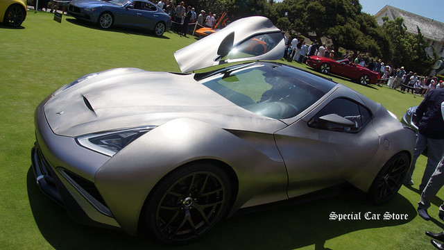 Icona Vulcano Titanium on the concept lawn