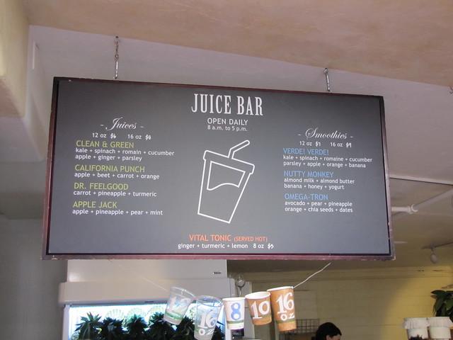 Juice Bar at Carmel Belle