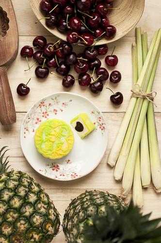 Goodwood Park Hotel - Pineapple, Lemongrass & Dark Cherry Snowskin Mooncake