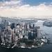 Lower Manhattan Aerial by RBudhu
