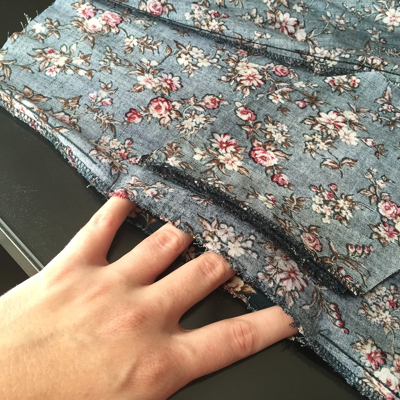 Teal Floral Dress - In Progress