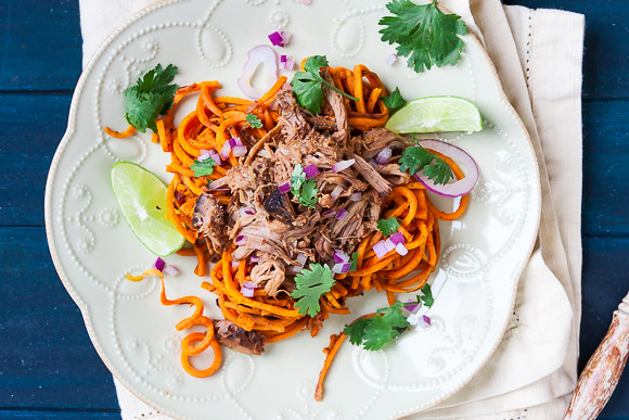 Spiralized Chipotle-Lime Sweet Potato