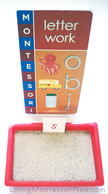 Sand Tray with Montessori Letter Work