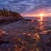 Sunrise - Cascade River State Park, Minnesota by Jim Teske