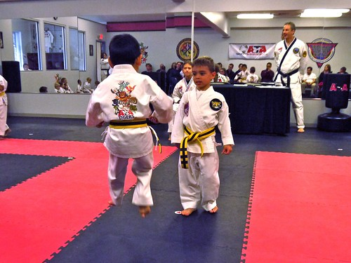 jump front kick in line sparring