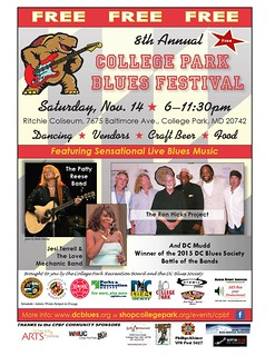 College Park Blues Festival Artists and Sponsors 2015