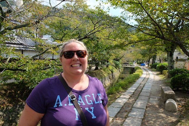 Claire on the philosophers path in Kyoto