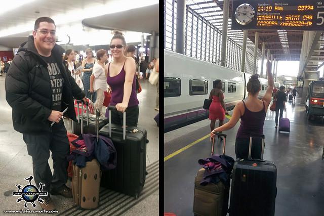 Estación Renfe-AVE Madrid-Barcelona. España.