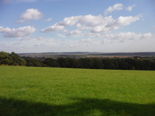 View from One Tree Hill towards Canvey Island